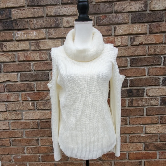 Kate & Mallory Sweaters - Kate & Mallory Sweater Cold Shoulder W/  Cowl Neck